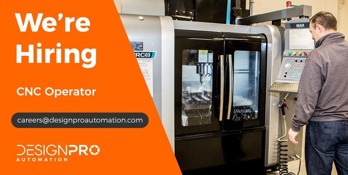DesignPro Currently Hiring: CNC Operator