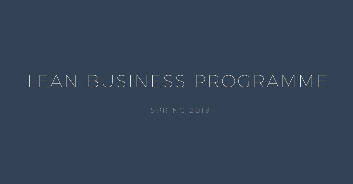Lean Programme Spring 2019