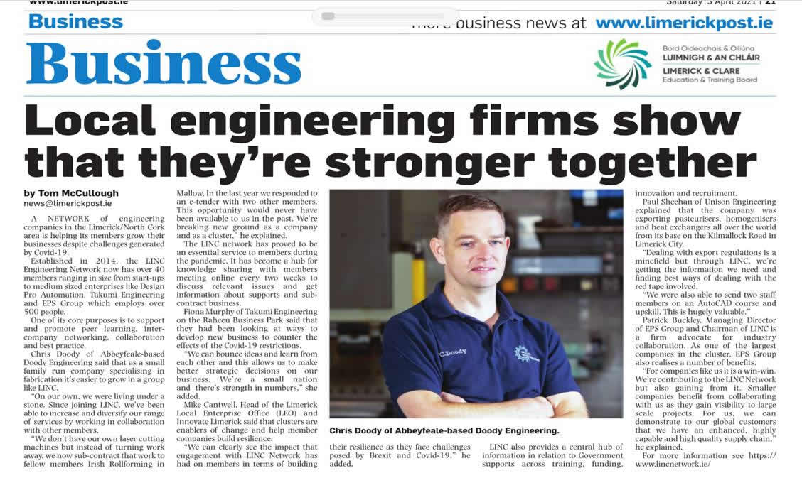 LINC Network Receives Local Newspaper Coverage